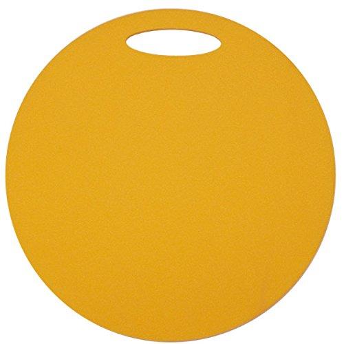 Schaumstoff Sitzkissen gelb wasserdicht Sitzunterlage mit Griff 35cm