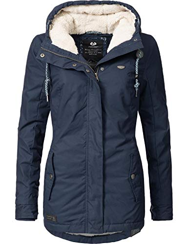 Ragwear Damen Winterparka Winterjacke Monade Navy018 Gr. L Warme Winter-jacke