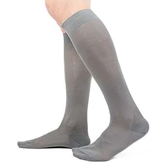 Ciocca Calze uomo lunghe, pregiato cotone 100% FILO SCOZIA - 6 Paia - tre taglie calze (40/41, Assortimento chiari)