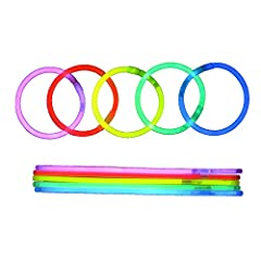 Idea Regalo - bys 100 Premium Glow Sticks Party Packs con Braccialetti Connettori Cinque Colori Glow Stick Braccialetti Mixed in a Package da Creare: Glowsticks, bracciali, collane, Occhiali, Braccialetti tripli