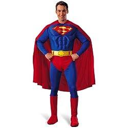 Superman muscular de disfraz multicolor M