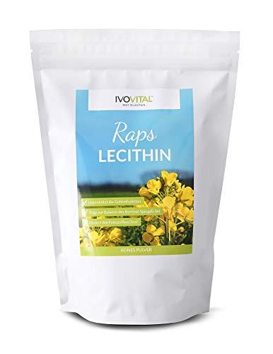 Raps-Lecithin (Lezitin) Pulver, IVOVITAL®, ohne Zusatzstoffe, Reinlecithin (1200g)