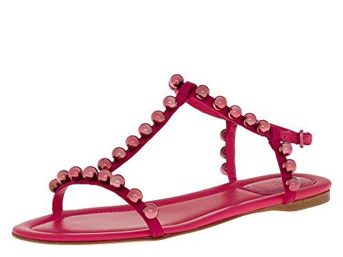 Dior Femmes Tongs rose fuchsia