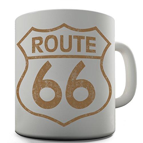 Shaggy Hochflor Teppich Funny Design Route 66 witziges Geschenk Tee Kaffee Becher Tasse Büro (66-teppich Route)