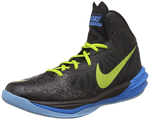 Nike Prime Hype DF Herren Basketballschuhe Schwarz (Black/chartreuse-photo blue-lksd)
