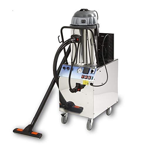 EOLO Sistema de Limpieza Profesional multifunción Aspiradora de sólidos y líquidos con generador Profesional de Vapor a Recarga automatica y Chorro de detergente para pretratamiento LP07 T RA Trifase