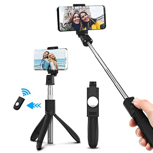 ELEGIANT Bastone Selfie, Asta Selfie Bluetooth Controllo Wireless Selfie Stick Treppiede Compatibile con Android iOS iPhone XS XS Max XR x 8Plus Huawei P20 10 iPad Samsung Galaxy s9 s9+ HTC 8X LG