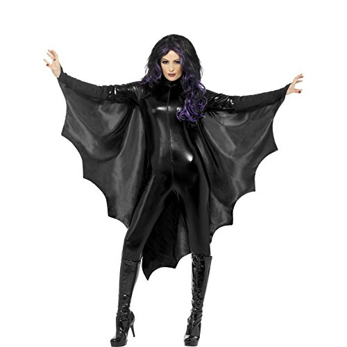 Chauve Kostüm Halloween Souris - Unisex Adult Halloween Fancy Dress Accessory High Collar Vampire Bat Wings