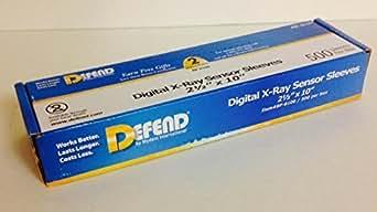 Defend BF-8100 Digital X-Ray Plastic Sensor Sleeves Plastic Sensor Covers 2 1/2 x 10 - 500/Box