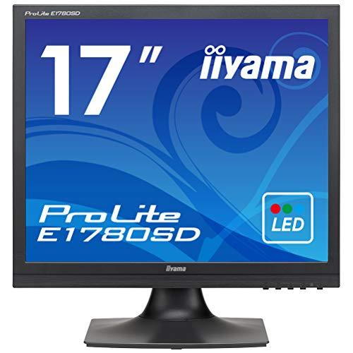 iiyama ProLite E1780SD-B1 43cm (17 Zoll) LED-Monitor SXGA (VGA, DVI) schwarz 17 Flat Panel Lcd Monitor