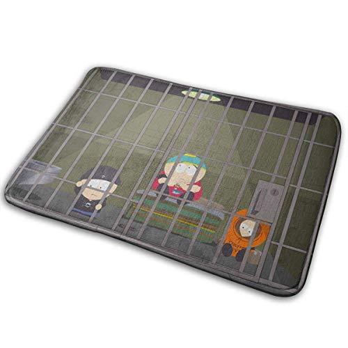 Uosliks Gefängnis-Gefängnis-Karikatur-lustige Kunst-Eingangs-Matten-Boden-Matten-Teppich-Fußmatten-Gummi rutschfest - Gefängnis Schuhe