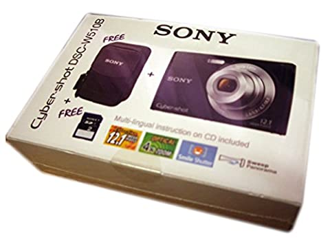 Sony Cyber-Shot dsc-w510b Kamera-Kit schwarz inkl. Kamera 2GB SD Karte und Sony Kamera Fall–UK und EU Netzteil