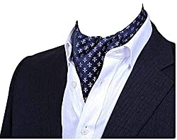 Yuany Herren Paisley Jacquard gewebte Seide Krawatte Krawattenschal Formal Ascot