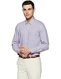 Diverse Men's Checkered Slim Fit Formal Shirt