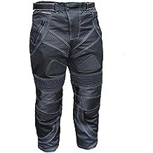 Australian Bikers Gear Pantalon Moto Chicane ligero para el Verano  con protecciones extraibles Negro TALLA UK 36S EU 46S