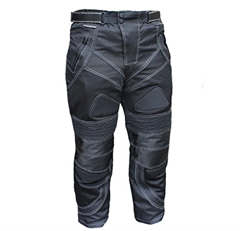 Chicane Summer Mesh Armoured CE-1621-1 Waterproof Motorcycle Trousers Pants Black