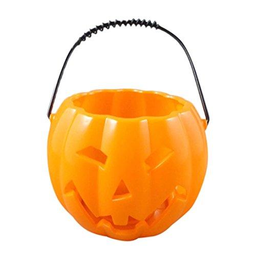 HKFV Halloween Deko Zubehör Goblin Ghosts Goggles Kinder Kürbis Schokoriegel Luminous Geist schüttelte den kleinen Kürbis Eimer (Stadt Zubehör Party Halloween)