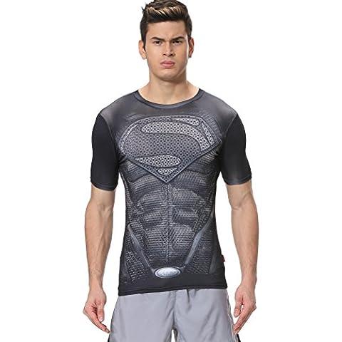 Cody Lundin® Serie de superhéroes Superpersona Cosplay de los hombres Deporte corriendo culturismo Fitness manga corta