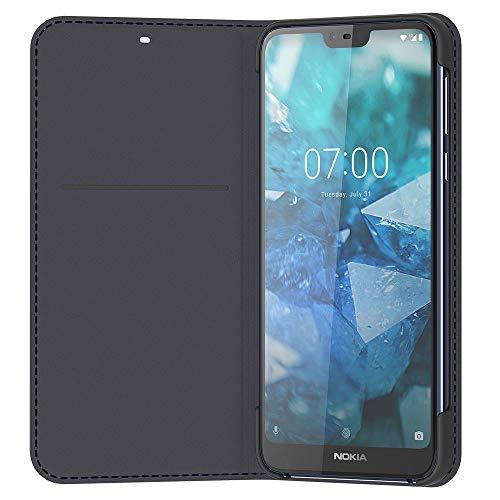 Original Nokia 8P00000041 Entertainment Flip-Cover 'CP-270' für Nokia 7.1 Tempered Blau Cp-case