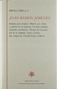 Juan Ramón Jiménez, prosa lirica I par Juan Ramón Jiménez