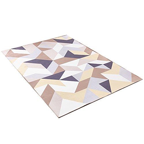 Alfombra geométrica minimalista moderna / alfombra de arrastre para niños / sofá de la sala de estar cojín de la mesa de café / alfombra grande / alfombra de noche para el dormitorio ( Tamaño : 160*230cm )