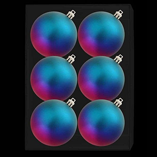 Pack Of 6 - 6cm Jewel Babioles Tone - Multi-Coloured Babioles - Arbre de Noël Décorations
