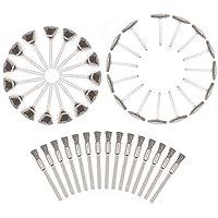 Juego de brochas de alambre de 45 piezas, accesorio de pulido, brochas de acero para Dremel, accesorios rotativos, herramientas de pulido, herramientas de limpieza