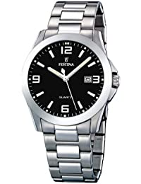 Festina Herren-Armbanduhr XL Klassik Analog Quarz Edelstahl F16376/4