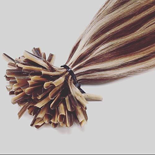 Extension capelli veri cheratina ciocche 1 grammo/ciocca pre bonded u tip allungamento 100% remy human hair - 50cm 50g #01 jet nero