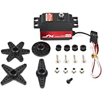 LasVogos JX PDI-HV2545MG HV Metal Gear Digital Coreless Gyro Tail Servo para avión RC