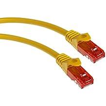 Maclean MCTV-300,301,302,303 - Cable patchcord Ethernet cable de conexión, 2x RJ45 UTP Cat6, 1.000 Mbit/s disponible en diferentes longitudes y colores (3m, Y)