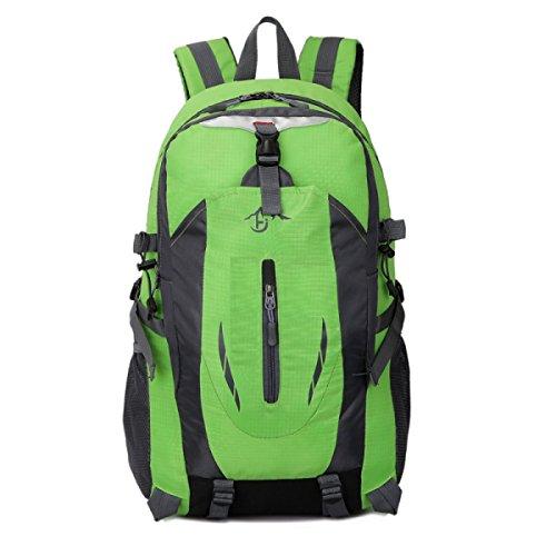 LQABW Außen Große Kapazitäts Einfache Version Von Wasserdichten Reisen Mountaineering Polyester Camping Wandern Rucksack Tasche Green