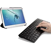 Sparin Ultra delgado Mini teclado Bluetooth para Samsung Galaxy Note 10.1 2014 Edition, Galaxy Tab 2, Galaxy Tab 3, Samsung Galaxy Note 8,0, Galaxy Note 10.1 (2012 Edition) y otros tablets Android – negro