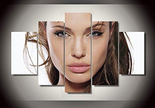 Angelina Jolie stampa su tela decorazione 5pezzi
