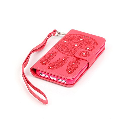 Stand Hülle für iPhone 7 Plus,Wallet Hülle für iPhone 7 Plus,Flip Hülle für iPhone 7 Plus Lederhülle Handyhülle TPU Tasche Case,EMAXELERS Cool Reifen Muster iPhone 7 Plus 5.5 inch Hülle stoßfest Schwe B Campanula Diamond 1