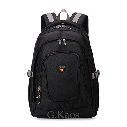 Preisvergleich Produktbild 'Aoking by G. Kaos Rucksack Reise Schule mit Tasche-PC-14Zoll, 25Liter, Format 47x 30x 20cm–hn2431 Black/Black