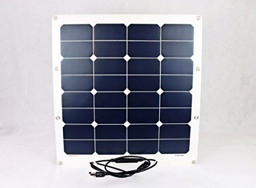 Sunline Solartechnik GmbH 50 Watt Solarmodul flexibel Monokristallin 12V Solarpanel Solarzelle 50W
