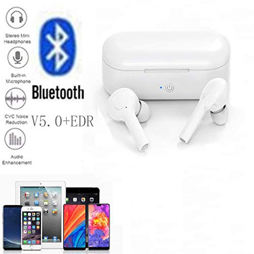 Jamicy® Bluetooth Kopfhörer in Ear Sport Kabellos Ohrhörer Headset Wireless Earbuds Touch-Control, 15 Std Spielzeit mit Ladebox, Mikrofon für iPhone Samsung Huawei (Weiß) (Beats Earbuds Ihre)