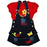#2: Zadmus Girls Denim Dungree Skirt Dress (6 Months - 5 Years)