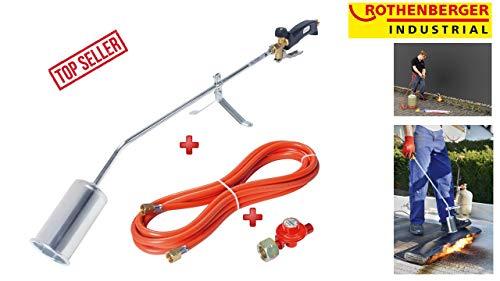Rothenberger Industrial 1500000930 RoMaxi Economy-Anwärmbrenner-inkl. 4 bar Regler und 5 Meter Schlauch