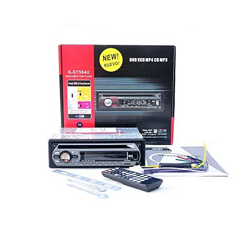Gaoominy 1 Ding 12 V Auto DVD Player Auto Audio Cd Multi Funktional Auto DVD Player DVD Vcd Cd Player Mit Fernbedienung Mp3 Spielen S-Gt564 U