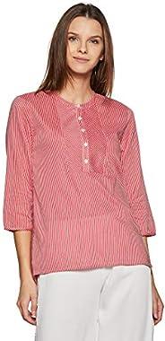 Styleville.in Women's Striped Regular Fit S
