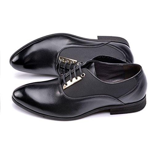 Nuove Scarpe Da Uomo Pizzo Business Inglese Abito Scarpe Traspiranti Puntate Black