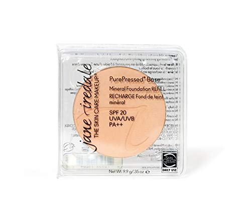 Jane Iredale PurePressed Base, SPF 20, ricarica, fondotinta compatto, colore: suntan marrone chiaro 9,9g