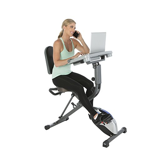 41NjOPKFvgL. SS500  - Exerpeutic WorkFit 1000 Fully Adjustable Desk Folding Exercise Bike with Pulse