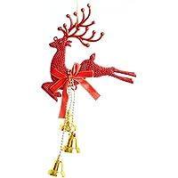 Decorazioni di natale natale alce Natale Bell natale ornamento 20cm,Rosso
