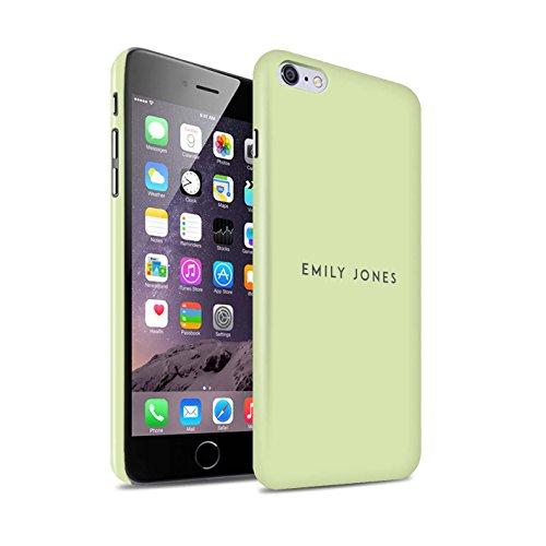 Personalisiert Individuell Pastell Stempel Glanz Hülle für Apple iPhone 8 Plus / Rosa Design / Initiale/Name/Text Snap-On Schutzhülle/Case/Etui Grünes