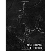 Large 500 Page Sketchbook: Black Marble Drawing MaterialsSketching, Drawing, Creative Doodling to Draw and Journal