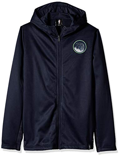NBA by Outerstuff NBA Youth Boys Minnesota Timberwolves Ballistic Hooded Jacket, Navy, Youth X-Large(18) Ballistic Polyester
