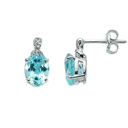 Orecchini Miluna in oro bianco con Topazio azzurro e diamanti 0.024ct ERD1920X
